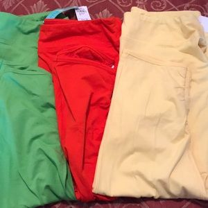 Pants - 3 pairs yellow , orange & green